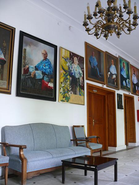 Interior Facultad de Filosofía y Letras. Campus San Francisco