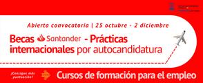 Becas Santander. Prácticas Internacionales por autocandidatura